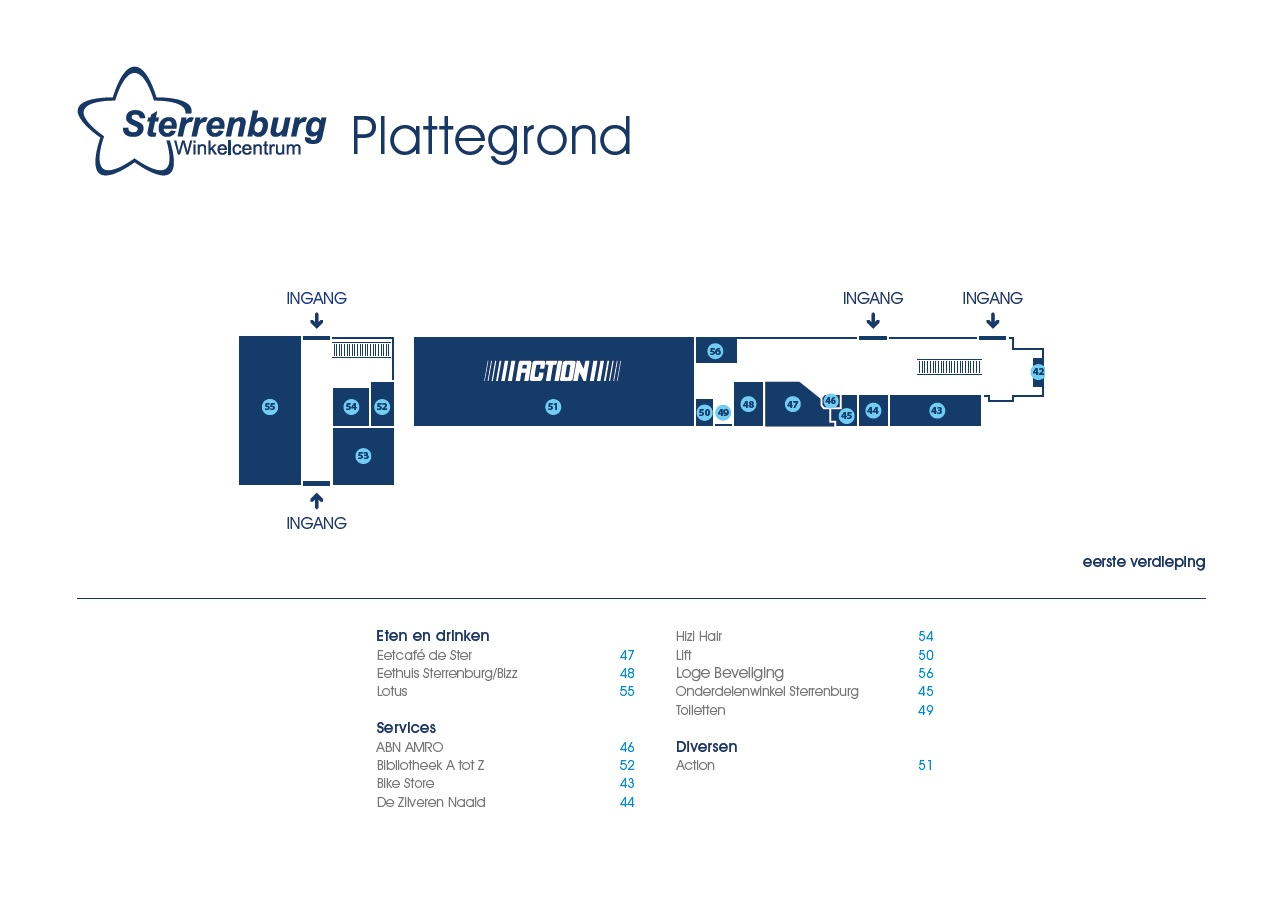 Plattegrond Sterrenburg etage nov 2017